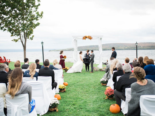 Ceremony - lawn, fall pro