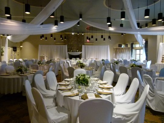 reception - draped ceiling - decorator